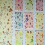 Couro do plutônio do Glitter para a decoração Hw-376 da parede