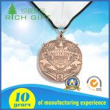 卸売は堅いエナメルの金属の軍隊賞の金メダルをカスタマイズした