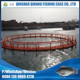 Matériel de flottement de HDPE cultivant la cage de poissons