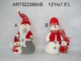 """13 """" H Santa e decorazione di natale del pupazzo di neve con Baby-2asst"""