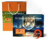 Sacchetto di carta promozionale del regalo, sacchetto della carta kraft del Brown, Sacchetto di elemento portante dell'indumento & del pattino, sacchetto del cliente del vestito del boutique, imballaggio cosmetico di modo & sacchetto impaccante