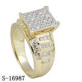 상한 모형 다이아몬드 반지 은 보석 Hotsale