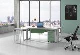 Ht99-2の白いカスタマイズされた金属の鋼鉄オフィスの管理の机フレーム