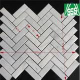 Mattonelle di mosaico collegate marmo bianco e nero fragile per la decorazione