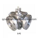 API/DIN/JIS/GOST는 강철 이중 강철 또는 합금 강철 3방향 플랜지가 붙은 공 벨브 (L/T 유형) 3방향 플랜지 공 벨브를 위조했다