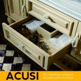 Nuevo estilo de lujo simple al por mayor del cuarto de baño de la cabina del cuarto de baño de la madera maciza del gabinete (ACS1-W60)