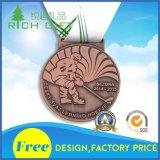 Médaille courante d'emblème d'époxy d'émail de décoration de fer d'école aucun prix bas minimum