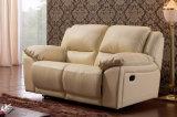 セットされる現代居間の本革のリクライニングチェアのソファー(HC015)