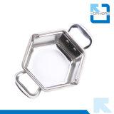 調理器具の六角形の鍋のステンレス鋼の小型熱い鍋