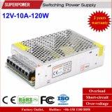 fuente de alimentación de la conmutación de 12V 10A 120W para la iluminación del LED