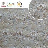 구슬로 만드는 메시 Polyster 레이스 직물, 민감하고 및 아름다운 꽃 패턴 2017 C30003