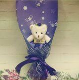 Förderung-Geschenk-Muttertagesspielzeug-Bär mit Blumenstrauß