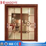 Deux portes coulissantes en verre en verre trempé pour la chambre