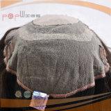 Chiusura superiore di seta brasiliana del merletto dei capelli umani di colore del Brown