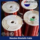 Conductor revestido de cobre del alambre de acero para el cable coaxial