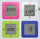 지원된 1명의 공장 OEM에 대하여 LCD 다기능 자명종 4는 시계를 4 직면했다