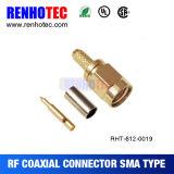 En ángulo recto de SMA hembra del conector del cable coaxial