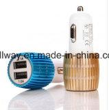 2.1A&1A 알루미늄 2 USB 포트 보편적인 이중 USB 차 충전기