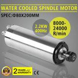 Высокоскоростной охлаженный водой мотор шпинделя 2.2kw для филировать гравировки