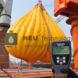 sacos enchidos água do peso 35t para o teste de carga do guindaste e do turco