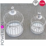 Support de bougie décoratif Wedding de Birdcage en métal