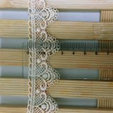 Merletto di nylon di immaginazione della guarnizione del ricamo del poliestere del merletto del nuovo di disegno della fabbrica delle azione del commercio all'ingrosso 2.8cm ricamo di larghezza per l'accessorio degli indumenti & i &Curtains domestici delle tessile