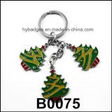 L'anello chiave degli alberi di Natale di oro ha stampato, decorazione (GZHY-KC-002)