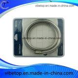 Tubo flessibile Braided del metallo del collegare ritrattabile dell'acciaio inossidabile