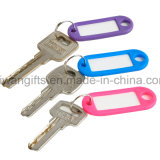 Étiquette nommée en gros d'étiquette, indicateur de clé en plastique avec le porte-clés de fractionnement