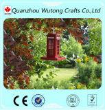 Décoration automatique de jardin de câble d'alimentation d'oiseau de cabine téléphonique de résine de nouveauté