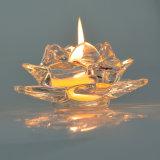 Porte-bougies en verre cristallin clair pour les religieux