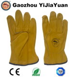 Cuir en cuir de vachette Grain Leather Driving Work Gloves