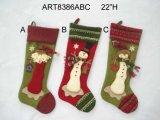 El muñeco de nieve Stocking con tejidos de punto Cuffs-Christmas Decoración