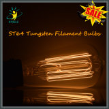 Illuminazione di stile della lampadina incandescente del filamento del tungsteno St64 retro