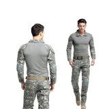 軍隊のKnee-Padsが付いている均一戦術的なカエルのスーツ(ワイシャツ+ズボン)