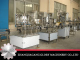 Rota la pequeña máquina de llenado de la cerveza bebida carbonatada