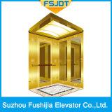Ascenseur à la maison de Roomless de machine du chargement 1000kg avec Ti-Plaqué, miroir, repéré, délié et vibration