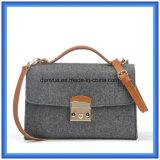 Sacchetto casuale personalizzato del messaggero ritenuto lane delle signore, sacchetto di Tote caldo di acquisto di promozione con la cinghia di cuoio registrabile dell'unità di elaborazione