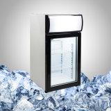 Малый стеклянный передний холодильник для промотирования питья