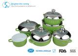 L'insieme di ceramica della casseruola del Cookware del bastone dell'alluminio della pressofusione non