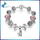 Klassische Liebes-Anhänger-u. Qualitätbrown-Murano Raupe-Stern-Charme-Armbänder