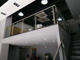 Barandilla de acero inoxidable y escalera de vidrio templado con certificación Ce