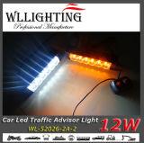 Licht van de Waarschuwing van de amber Witte 12 LEIDENE het AmberAdviseur van het Verkeer