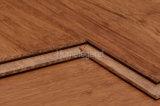 Revêtement de sol en bambou tissé à structure carbonisée