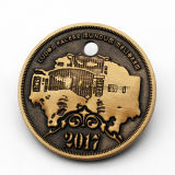 2017 nueva moneda del desafío de la aleación 3D del cinc del diseño