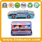 Коробка карандаша для малышей, случай олова металла 3D автомобиля форменный олова