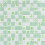Mosaico cristalino de cristal para el suelo