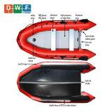 PVC Hypalon bateau gonflable Zodiac Bateau de pêche et de sports Dinghy Yacht Bateau de sauvetage de l'Aviron