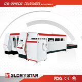 Faser-Laser-Ausschnitt-Maschine des Metall1kw mit vollem Gehäuse