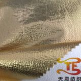 Tissu élastique en nylon avec le tissu de vêtement d'étape d'estampage d'or